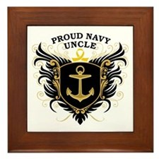 Proud Navy Uncle Framed Tile