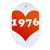 My heart is 1976 Oval Ornament