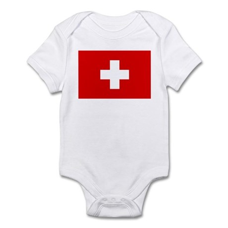 SWISS CROSS FLAG Infant Creeper