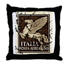 Pegasus Stamp Throw Pillow