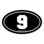 #9 Euro Bumper Oval Sticker -Black