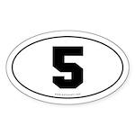 #5 Euro Bumper Oval Sticker -White