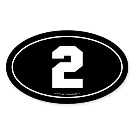 #2 Euro Bumper Oval Sticker -Black