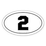#2 Euro Bumper Oval Sticker -White