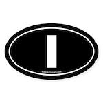 #1 Euro Bumper Oval Sticker -Black