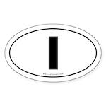 #1 Euro Bumper Oval Sticker -White