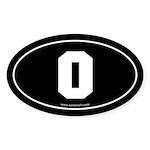 #0 Euro Bumper Oval Sticker -Black