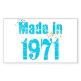 Fresh blue Made in 1971 Rectangle Decal