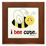 I Bee Cute Framed Tile