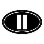 #11 Euro Bumper Oval Sticker -Black