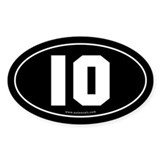 #10 Euro Bumper Oval Sticker -Black