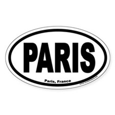Paris France Euro Oval Decal