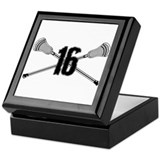 Lacrosse Number 16 Keepsake Box