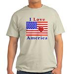 Heart America Flag Light T-Shirt
