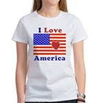 Heart America Flag Women's T-Shirt