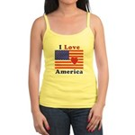 Heart America Flag Jr. Spaghetti Tank