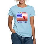 Heart America Flag Women's Light T-Shirt