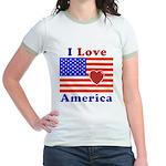 Heart America Flag Jr. Ringer T-Shirt