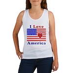 Heart America Flag Women's Tank Top