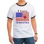 Heart America Flag Ringer T