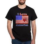 Heart America Flag Dark T-Shirt