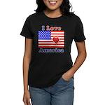 Heart America Flag Women's Dark T-Shirt