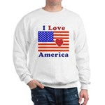 Heart America Flag Sweatshirt