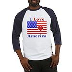 Heart America Flag Baseball Jersey