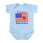 Heart America Flag Infant Bodysuit
