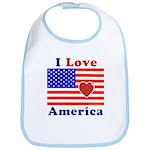 Heart America Flag Bib