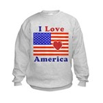 Heart America Flag Kids Sweatshirt