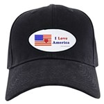 Heart America Flag Black Cap