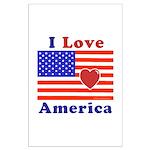 Heart America Flag Large Poster