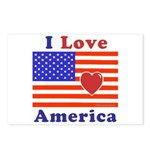 Heart America Flag Postcards (Package of 8)