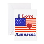 Heart America Flag Greeting Cards (Pk of 10)