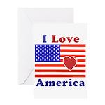 Heart America Flag Greeting Card