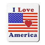Heart America Flag Mousepad