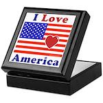 Heart America Flag Keepsake Box