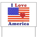 Heart America Flag Yard Sign