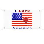 Heart America Flag Banner