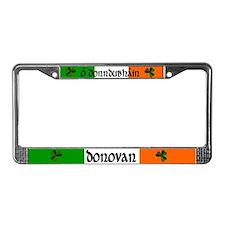Donovan in Irish & English License Plate Frame