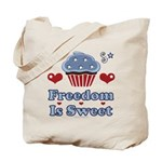 Freedom Is Sweet Americana Tote Bag