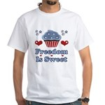 Freedom Is Sweet Americana White T-Shirt