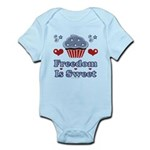 Freedom Is Sweet Americana Infant Bodysuit