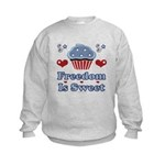 Freedom Is Sweet Americana Kids Sweatshirt