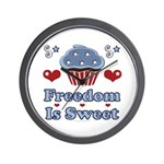 Freedom Is Sweet Americana Wall Clock