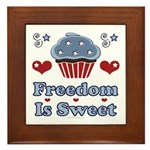 Freedom Is Sweet Americana Framed Tile