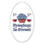 Freedom Is Sweet Americana Oval Sticker (50 pk)