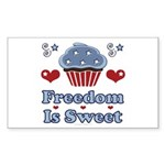 Freedom Is Sweet Americana Rectangle Sticker 10 p