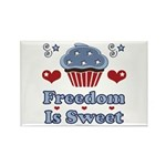 Freedom Is Sweet Americana Rectangle Magnet (100 p